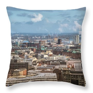 Befor A Snow Storm Hamburg Throw Pillow