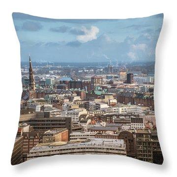 Befor A Snow Storm Hamburg Throw Pillow