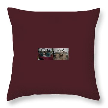 Before And After Throw Pillow by Val Oconnor
