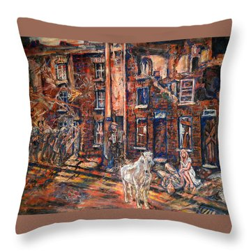 Before Gentrification Throw Pillow