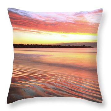 Before Sunrise At First Beach Throw Pillow