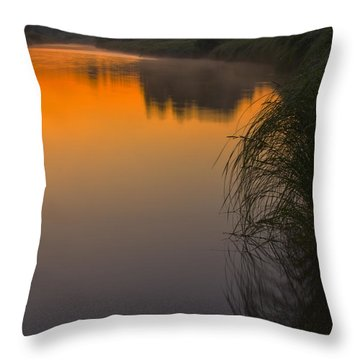 Before Sunrise On The River Throw Pillow