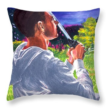 Before The Blade Throw Pillow
