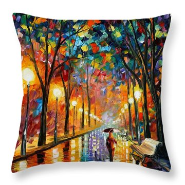 Before The Celebration Throw Pillow by Leonid Afremov