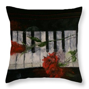 Before The Concert Throw Pillow