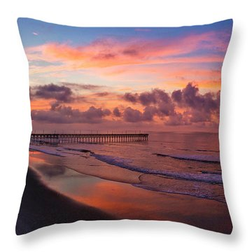Throw Pillow featuring the photograph Before The Dawn by DJA Images