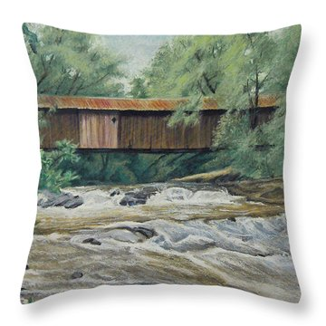 Before The Fire Throw Pillow by Peter Muzyka