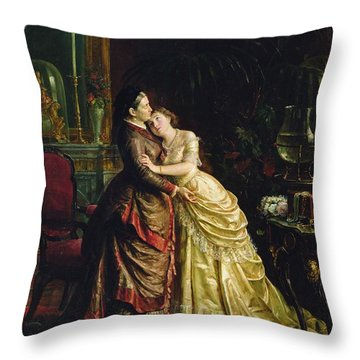Before The Marriage Throw Pillow by Sergei Ivanovich Gribkov