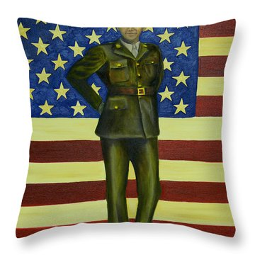 Before The Ruins Of War Throw Pillow