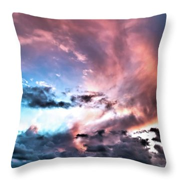 Before The Storm Avila Bay Throw Pillow by Vivian Krug Cotton
