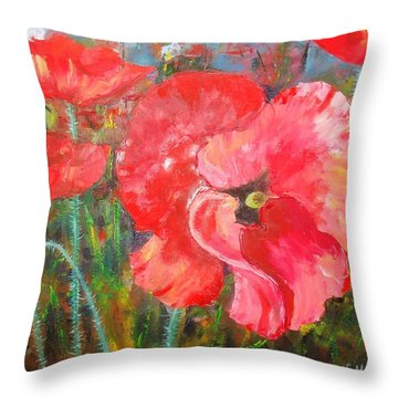 Throw Pillow featuring the painting Before The Storm by Nina Mitkova