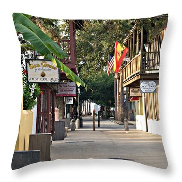 Before The Tourists 1 Throw Pillow