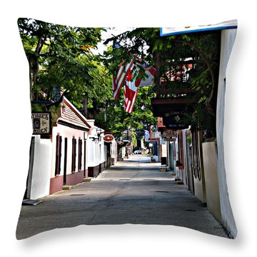 Before The Tourists 2 Throw Pillow