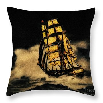Before The Wind Throw Pillow by Blair Stuart