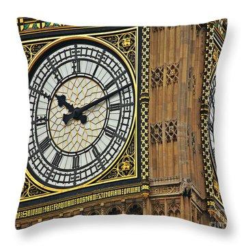 Throw Pillow featuring the photograph Beg Ben by Digital Art Cafe