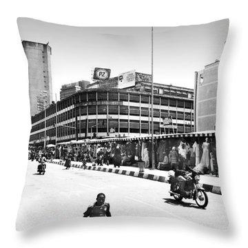 Pz, Broad Street Throw Pillow