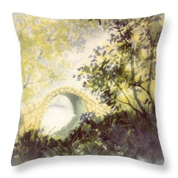 Beggar's Bridge Vignette Throw Pillow