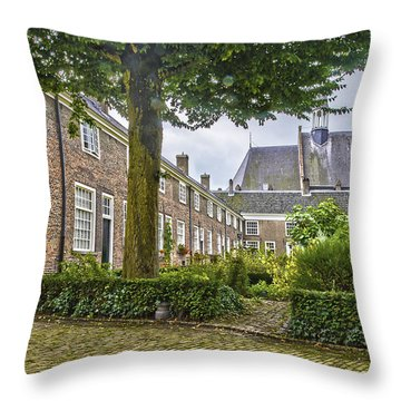 Begijnhof In Breda Throw Pillow