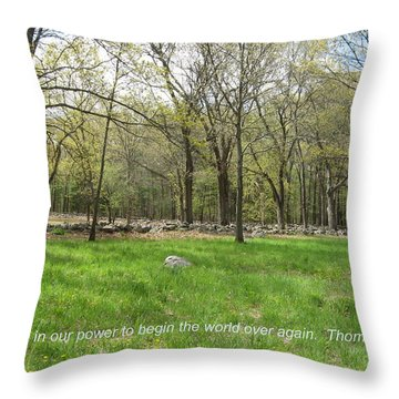 Begin The World Over Again Throw Pillow