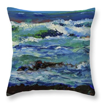 Throw Pillow featuring the painting Beginning Of A Storm by Walter Fahmy