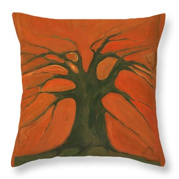 Beginning Of Life Throw Pillow by Wojtek Kowalski