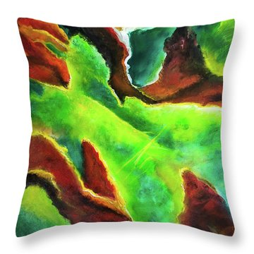 Beginnings 1 #410 Throw Pillow by Donald k Hall