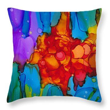 Throw Pillow featuring the painting Beginnings Abstract by Nikki Marie Smith