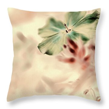 Beginnings Throw Pillow by Bonnie Bruno