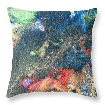 Beginnings - Geology Series Throw Pillow
