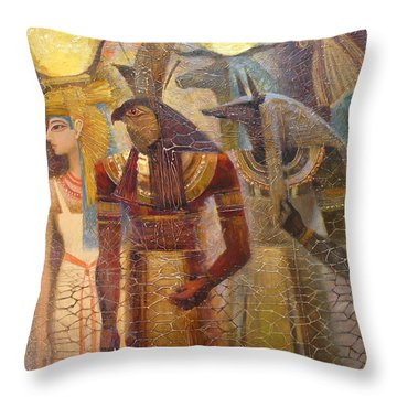 Beginnings. Gods Of Ancient Egypt Throw Pillow