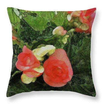 Begonia 5 Throw Pillow