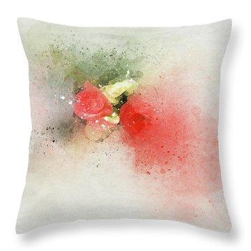 Begonia 7 Throw Pillow