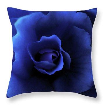 Begonia Floral Dark Secrets Throw Pillow by Jennie Marie Schell
