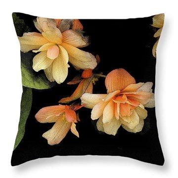 Begonias 2 Throw Pillow