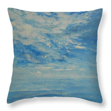 Behind All Clouds Throw Pillow