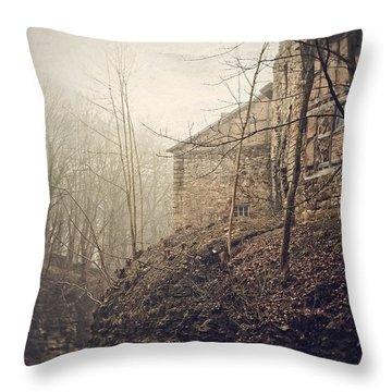 Behind Ancient Walls Throw Pillow