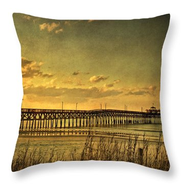 Behind Cherry Grove Pier  Throw Pillow by Trish Tritz