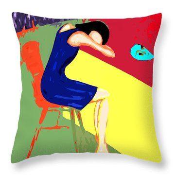 Behind Closed Doors Throw Pillow by Patrick J Murphy