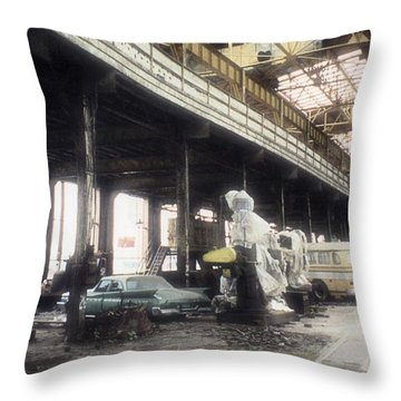 Behind Closed Doors Throw Pillow by Richard Rizzo