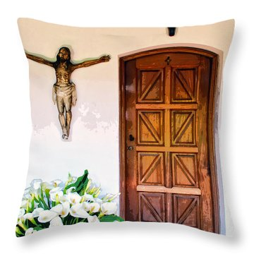 Behind Door Number 2 Throw Pillow by Dominic Piperata
