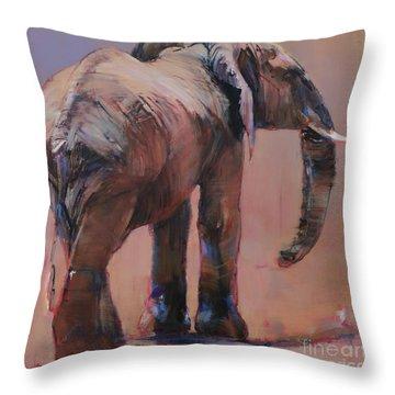 Behind, Loisaba Throw Pillow