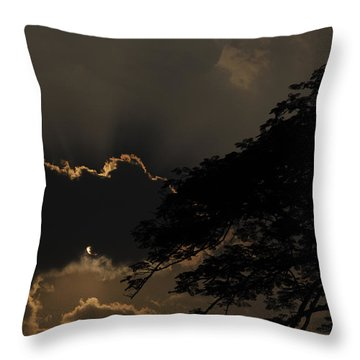 Behind The Cloud Throw Pillow