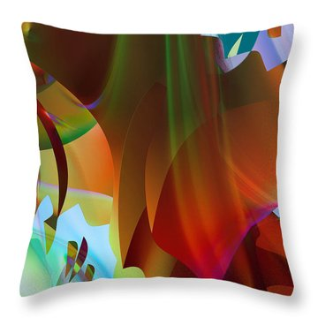 Behind The Curtain Throw Pillow