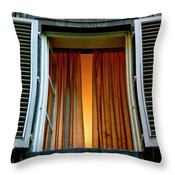 Throw Pillow featuring the photograph Behind The Curtains by KG Thienemann