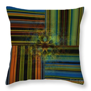 Behind The Drapes 2 Throw Pillow