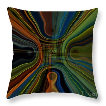 Behind The Drapes 3 Throw Pillow