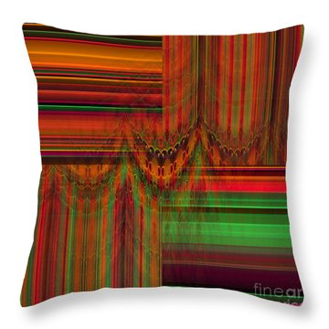Behind The Drapes Throw Pillow