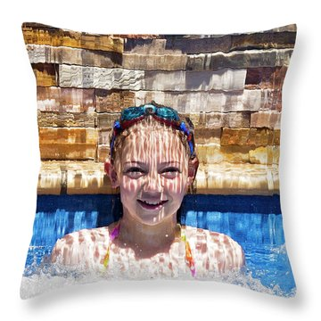 Throw Pillow featuring the photograph Behind The Falls by Linda Lees
