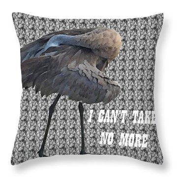 Behind The Feathers Throw Pillow