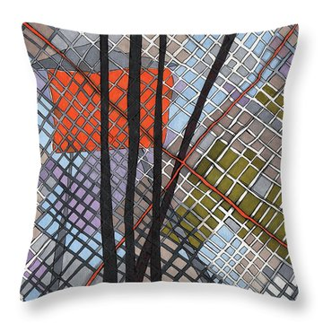 Behind The Fence Throw Pillow by Sandra Church